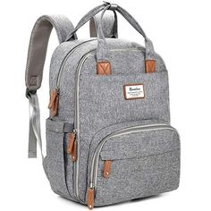 Diaper Bag Backpack, iniuniu Large Unisex Baby Bags Multifunction Travel Backpack for Mom and Dad with Changing Pad and Stroller Straps, Gray Best Diaper Bag, Baby Diaper Bags, Diaper Bag Unisex, Diaper Bags For Boys, Nappy Bags, Large Diaper Bags, Unisex Baby, Diaper Bag Backpack, New Moms