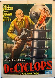 Dr. Cyclops, think 1st color sf movie, cool     effects for it's day (1940)