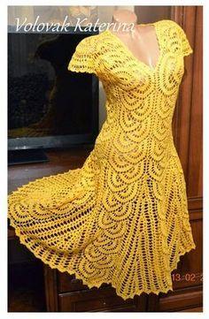 crochelinhasagulhas: Vestido em crochê by Katerina Volovik …
