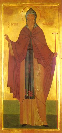 Beheading of the Venerable Cornelius the Abbot of the Pskov Caves - Orthodox Church in America Religious Paintings, Religious Art, Byzantine Icons, Cornelius, Orthodox Icons, Persecution, Ikon, Christianity, Saints
