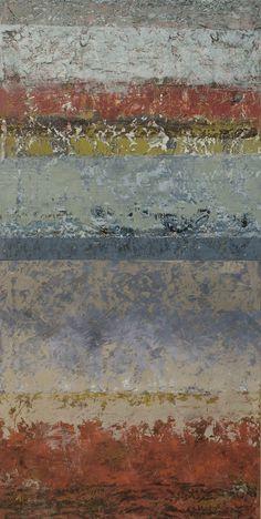 """della terra XIV, oil on panel, 32""""x 16"""""""