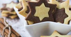 Aus der Weihnachtsbäckerei: Schwarz-Weiß-Sterne