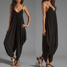 Sexy Plus Size Jumpsuits, Spaghetti Strap Black Jumpsuit at Kami Shade