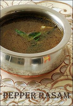 Easy pepper rasam with garlic - Pepper rasam recipe for cold - best way to fight the throat infection and makes you feel better. Garlic is natural antibiotic! Garlic Recipes, Veg Recipes, Indian Food Recipes, Salad Recipes, Vegetarian Recipes, Cooking Recipes, Spicy Recipes, Recipies, Indian Soup