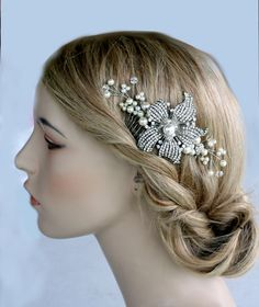 Hair & Head Jewelry Fashion Jewelry Motivated Gold Tone Rhinestone Butterfly Hair Clip Pin Vintage Estate Accessories Wedding