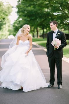 Classic Black-Tie Wedding with Pretty Pink Peonies