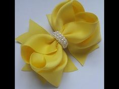 hair bow tutorial (HOW TO MAKE A TWISTED HAIR BOW) Classic Boutique Style bow - YouTube