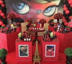 Mesa de dulces de Ladybug