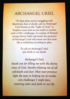 Prayer to Archangel Uriel by Rebecca Rosen