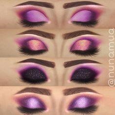Me gusta, 140 comentarios - Nuna Purple Makeup Looks, Makeup Eye Looks, Purple Eye Makeup, Eye Makeup Steps, Colorful Eye Makeup, Love Makeup, Contour Makeup, Eyeshadow Makeup, Eyeshadows