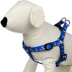 Petco Easy Step-In Blue Paw Print Reflective Dog Harness