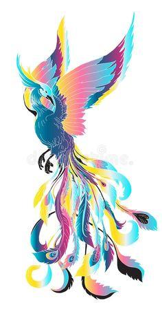 Phoenix Wings, Phoenix Bird Tattoos, Phoenix Tattoo Design, Crow Tattoos, Phoenix Design, Ear Tattoos, Phoenix Artwork, Phoenix Drawing, Vogel Illustration