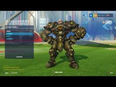 Overwatch: Reinhardt Bundeswehr Skin All Emotes, Poses, Intros and Weapons - YouTube
