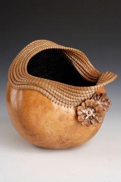 """*Gourd Art - """"Dressed Up"""" by Lynn Horine"""