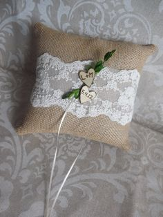 Rustic Vintage Shabby Chic Burlap Lace Wedding by creations4brides, $28.00