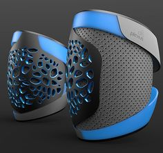 PLEXUS - Skateboarding Protective Gear by Subinay Malhotra - The PLEXUS collection of gear finds safety, flexibility, ventilation, performance and cool looks in an intricate voronoi web that adapts to the wearers movement. | Yanko Design
