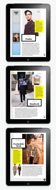 GQ Magazine iPad app | Abduzeedo Design Inspiration