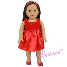 Red Flower Holiday Dress & Headband