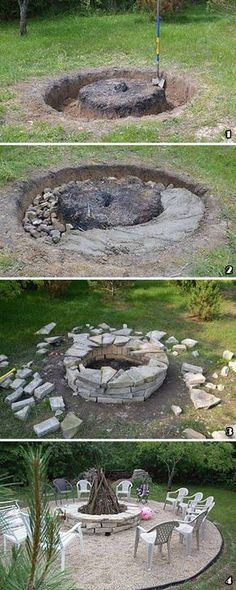 15 Most Clever Rock Fountain Ideas for Your Backyard Rock - feuerstelle im garten bauen