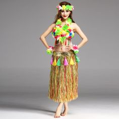 5bcf827ae11 Find More Party DIY Decorations Information about 6PCS set Plastic Fibers  Women Grass Skirts Hula