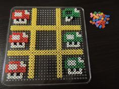 Tic Tac Toe Mario Spiel aus Bügelperlen  Perler Beads by Baumberger Entdecker
