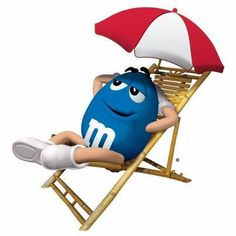 Blue in his Deck Chair Candy Pictures, Candy Images, Clip Art Pictures, M M Candy, Best Candy, Smileys, M&m Characters, M Wallpaper, House Of M