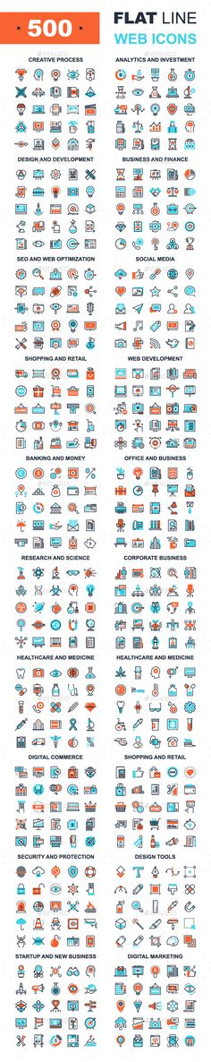 Flat Line Web Icons. Download here: http://graphicriver.net/item/flat-line-web-icons/15908368?ref=ksioks