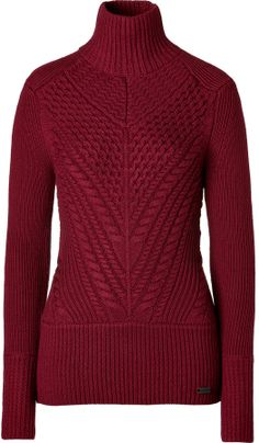 Burberry Merino Wool Blend Omer Pullover in Damson Red on shopstyle.com