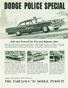 1959 Dodge Police Special.  ★。☆。JpM ENTERTAINMENT ☆。★。