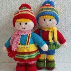 hand knitting for beginners free pattern Knitted Doll Patterns, Animal Knitting Patterns, Knitted Dolls, Knitting Designs, Crochet Dolls, Knitting Projects, Knitted Hats, Loom Knitting, Hand Knitting