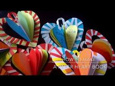 How to make a paper heart  book - YouTube