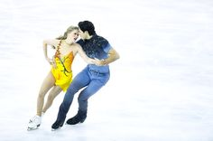 Kaitlyn Weaver and Andrew Poje of Canada compete in the Ice Dance Free Dance during day three of the ISU Grand Prix of Figure Skating Final 2014/2015 at Barcelona International Convention Centre on December 13, 2014 in Barcelona, Spain.