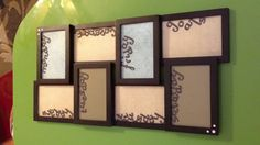 """My updated version of the picture frame weekly """"to do"""" list."""