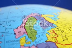 global map-Scandinavian countries Royalty Free Stock Photo