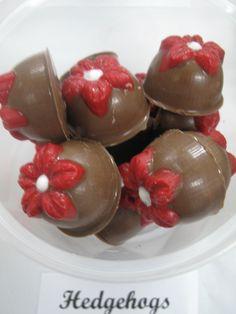Hazelnut gnache filled chocolates... taste exactly like hedgehogs chocolate