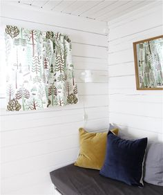 Nämä Beautiful Scandinavian inspired ceramics and fabric from Nämä this season along with an online magazine featuring the collection. Cute Curtains, Backyard Cottage, Interior And Exterior, Interior Design, Cozy Corner, Reading Nook, White Walls, Decoration, Home And Living