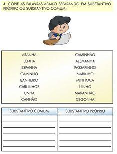 Ensinando com Carinho: Atividades de Português 3ºano
