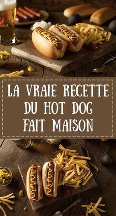 Recette Hot Dogs New York - Best Image Portal Hot Dogs, Dog Recipes, Burger Recipes, Baguette, Food Dog, Salty Foods, Cooking Pumpkin, Strudel, Cheddar