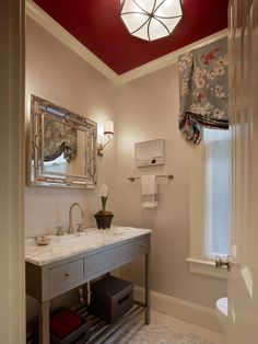 Focal Point in Glam Hollywood-Style Powder Room from HGTV
