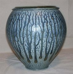 Beautiful Hand Thrown Ash glazed Vase   Signed by Pennsylvania artist     Frank Stofan 2001     Stands approx. 8 1/4 inches tall
