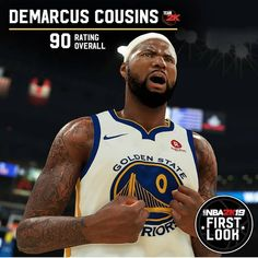 394bc57936b Heres a look at the newest Golden State Warrior Demarcus Cousins rating. Is  the whole starting 5 about to be 90 overalls  MVP · NBA 2k