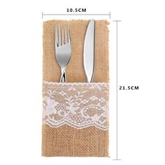 Amazon.com: DECORA 4 X8 Inch Burlap Silverware Holders for Rustic Wedding and Tableware Decorations 50pcs: Home & Kitchen