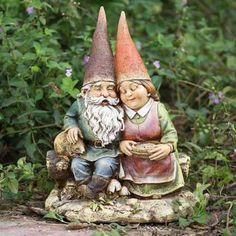 Gnome Couple Outdoor Statue
