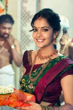 South Indian Bridal Fashion - We Inspire South Indian Bride Each Month South Indian Weddings, South Indian Bride, Indian Bridal, Silk Sarees, Lehenga Choli, Anarkali, Jute Sarees, Kanjivaram Sarees, Organza Saree