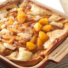 Gluten-Free Peach Cobbler made with baking mix: King Arthur Flour.  I am actually make this tonight for dessert and using blackberries instead of the peaches.