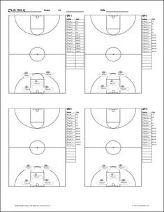 basketball score sheet pdf lucas pinterest