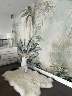 Tropical Trees Wallpaper Mural – Home Office Wallpaper Tree Wallpaper Mural, Office Wallpaper, Room Wallpaper, Wallpaper Ideas, Wallpaper For Living Room, Wallpaper Backgrounds, Wallpaper Jungle, Paper Wallpaper, Wallpapers