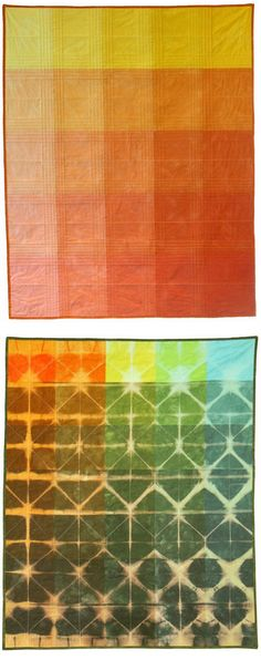 hand-dyed quilts - gorgeous, but who did it?