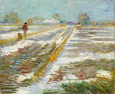 Van Gogh, Landscape with Snow, February-March 1888. Oil on canvas, 38.2 x 46.2 cm. Solomon R. Guggenheim Museum, New York.