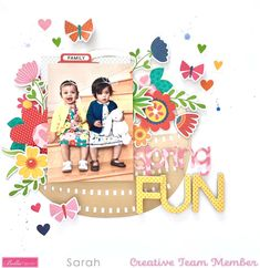 Kids Scrapbook, Scrapbook Page Layouts, Scrapbook Pages, Scrapbooking, Sweet Home Collection, Egg Hunt, Happy Saturday, Silhouette Design, Creative Studio
